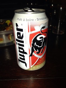 Jupiler, the Belgian Bud Light.